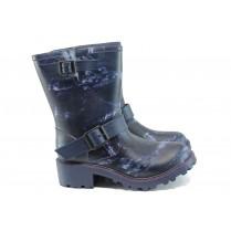 Юношески боти - висококачествен pvc материал - сини - EO-9404
