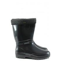 Юношески ботуши - висококачествен pvc материал - черни - EO-9406