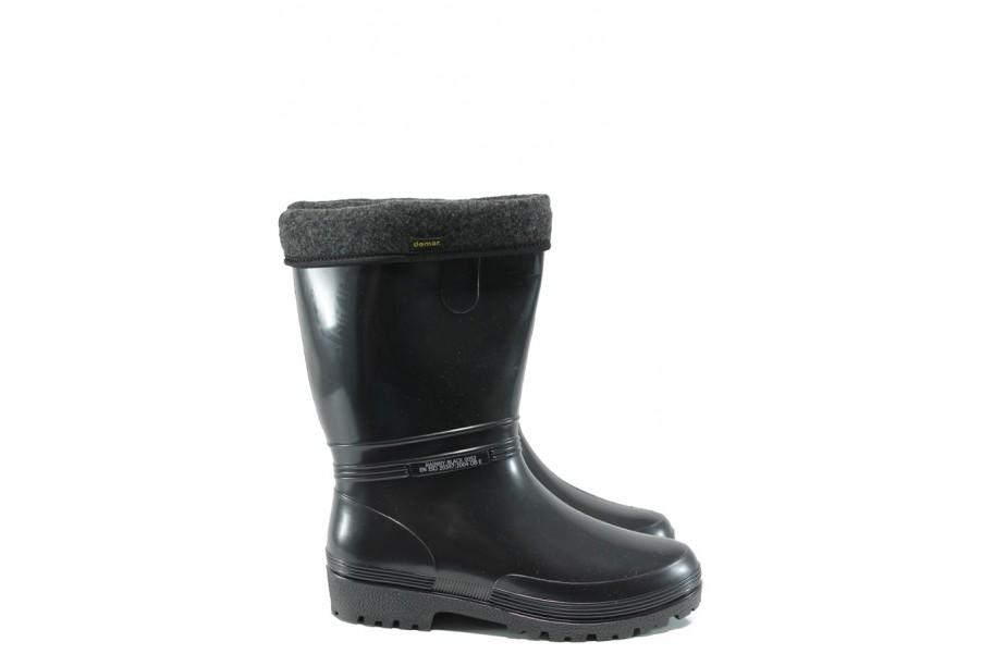 Юношески боти - висококачествен pvc материал - черни - EO-9406