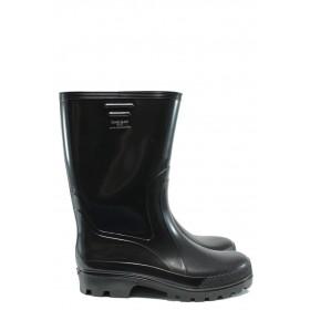 Мъжки боти - висококачествен pvc материал - черни - EO-9407