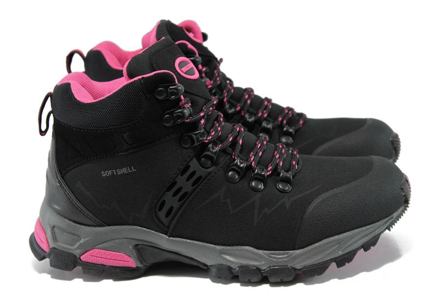 Юношески маратонки - висококачествена еко-кожа - черни - EO-9773