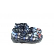 Детски обувки - висококачествен текстилен материал - сини - EO-7871