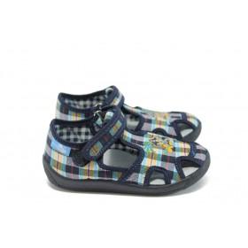 Детски обувки - висококачествен текстилен материал - сини - EO-8535