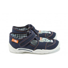 Детски обувки - висококачествен текстилен материал - тъмносин - EO-8553