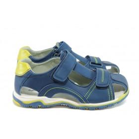 Детски обувки - висококачествена еко-кожа - тъмносин - EO-8767
