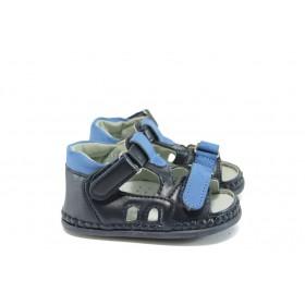 Детски обувки - висококачествена еко-кожа - тъмносин - EO-8771