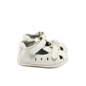 Детски обувки - висококачествена еко-кожа - бели - EO-8772