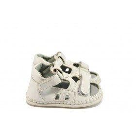 Детски обувки - висококачествена еко-кожа - бели - EO-8774