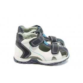 Детски обувки - висококачествена еко-кожа - тъмносин - EO-8775