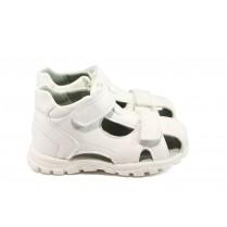 Детски обувки - висококачествена еко-кожа - бели - EO-8776