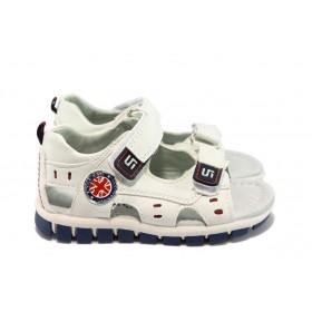 Детски сандали - висококачествена еко-кожа - бели - EO-8777
