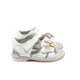 Детски сандали - висококачествена еко-кожа - бели - EO-8778