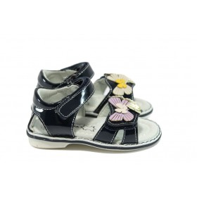 Детски сандали - висококачествена еко-кожа - тъмносин - EO-8779