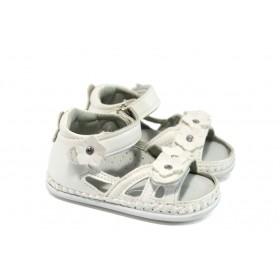 Детски сандали - висококачествена еко-кожа - бели - EO-8780