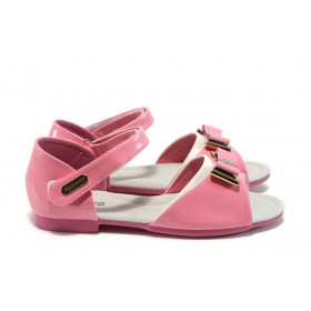 Детски сандали - еко кожа-лак - розови - EO-8782