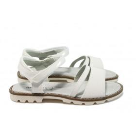 Детски сандали - висококачествена еко-кожа - бели - EO-8784