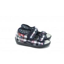 Детски сандали - висококачествен текстилен материал - сини - EO-9023