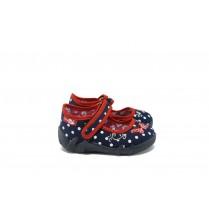 Детски обувки - висококачествен текстилен материал - тъмносин - EO-9052