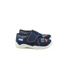Детски обувки - висококачествен текстилен материал - тъмносин - EO-9053