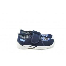 Детски обувки - висококачествен текстилен материал - тъмносин - EO-9054