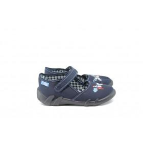Детски обувки - висококачествен текстилен материал - тъмносин - EO-9058