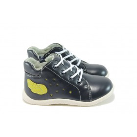 Детски обувки - висококачествена еко-кожа - сини - EO-9095