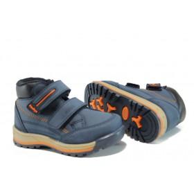 Детски боти - висококачествена еко-кожа - сини - EO-9542