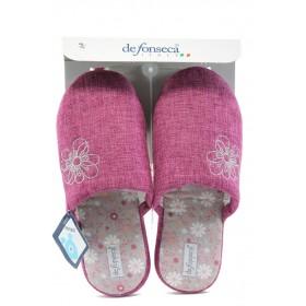 Дамски чехли - висококачествен текстилен материал - розови - EO-8857