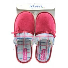 Домашни чехли - висококачествен текстилен материал - розови - EO-9085