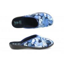 Домашни чехли - висококачествен текстилен материал - сини - EO-9429