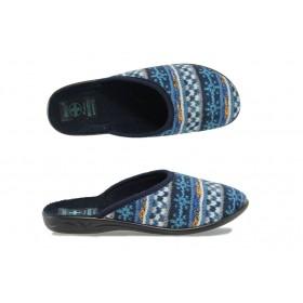 Домашни чехли - висококачествен текстилен материал - сини - EO-9433