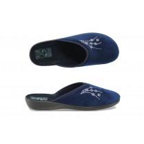 Домашни чехли - висококачествен текстилен материал - сини - EO-9434