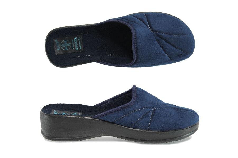Домашни чехли - висококачествен текстилен материал - сини - EO-9435