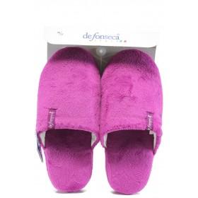 Домашни чехли - висококачествен текстилен материал - розови - EO-9480