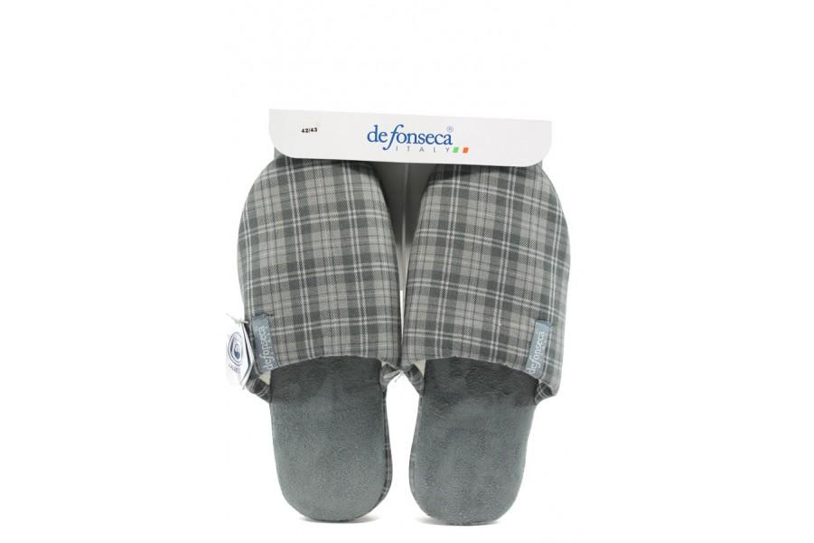 Домашни чехли - висококачествен текстилен материал - сиви - EO-9494