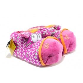 Домашни чехли - висококачествен текстилен материал - розови - EO-9605
