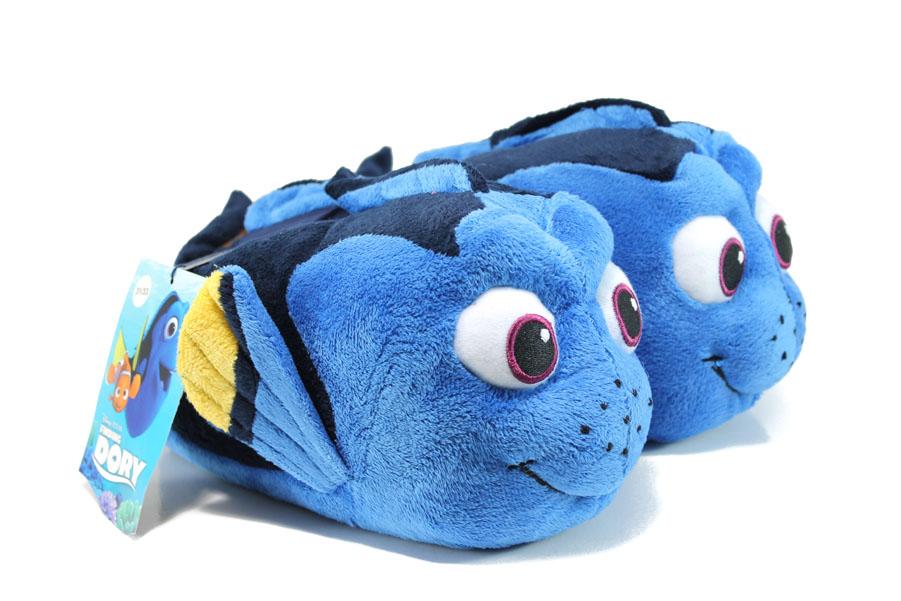 Домашни чехли - висококачествен текстилен материал - сини - EO-9606