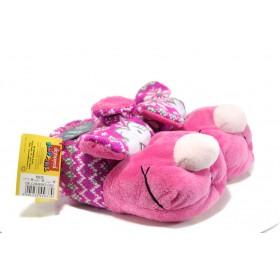 Домашни чехли - висококачествен текстилен материал - розови - EO-9611