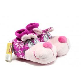 Домашни чехли - висококачествен текстилен материал - розови - EO-9610