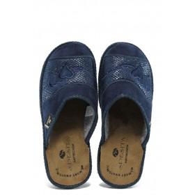 Домашни чехли - висококачествен текстилен материал - сини - EO-9708