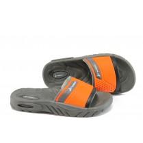 Детски чехли - висококачествен pvc материал - оранжеви - EO-9033
