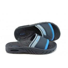 Детски чехли - висококачествен pvc материал - сини - EO-8585