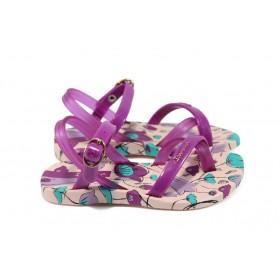 Детски сандали - висококачествен pvc материал - лилави - EO-8603