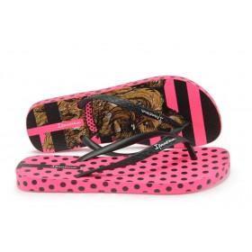 Дамски чехли - висококачествен pvc материал - розови - EO-8610