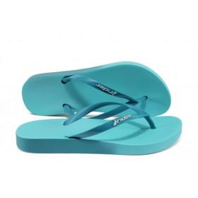 Дамски чехли - висококачествен pvc материал - сини - EO-8612