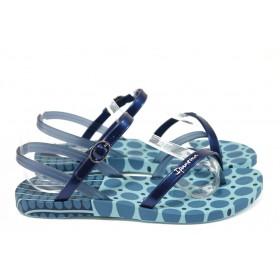 Дамски сандали - висококачествен pvc материал - сини - EO-8617