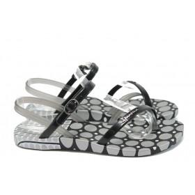 Дамски сандали - висококачествен pvc материал - черни - EO-8618