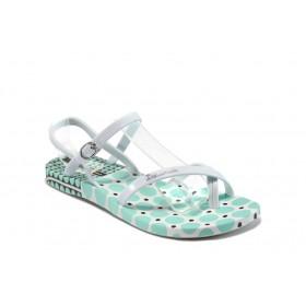 Дамски сандали - висококачествен pvc материал - зелени - EO-8620