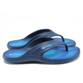 Мъжки чехли - висококачествен pvc материал - сини - EO-8625