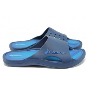 Мъжки чехли - висококачествен pvc материал - сини - EO-8630